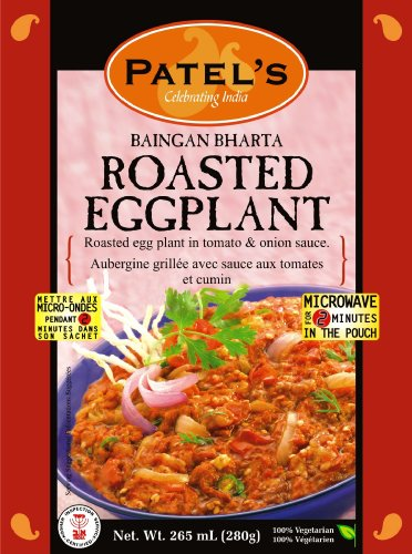 Patel's Baingan Bharta Roasted Eggplant, 9.5 Ounce Boxes (Pack of 10)