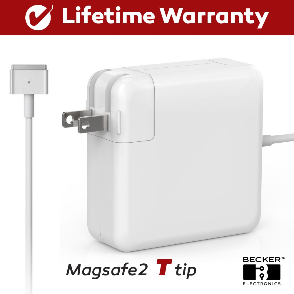 Macbook Pro Charger, 45W Magsafe 2 (T) Style Power Adapter Connector - BECKER ™ - Replacement Charger for Apple Mac Book Pro 11 inch / 13 inch / 15 inch by BECKER TM (Image #2)