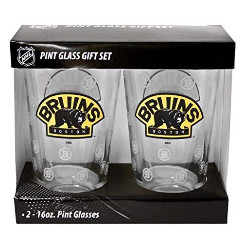 Boston Bruins 2 Pack Pint Glasses