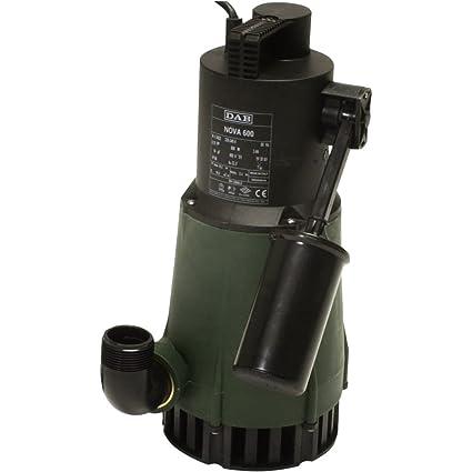 DAB NOVA 600 M-A SV– Bomba sumergible con flotador para drenar agua, de uso