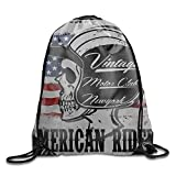 1 Pieces Drawstring Backpack Sport Bag 257059-1F31010543073 Cinch Tote Travel Rucksack for Traveling and Storage (10 Patterns)