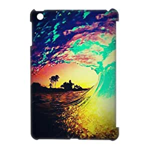 ZK-SXH - Colorful Beach Waves Custom 3D Case Cover for iPad Mini, Colorful Beach Waves DIY 3D Cell Phone Case