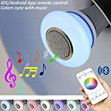 AmeriLuck Bluetooth Smart LED Light Bulb, App Remote Controlled, Stereo Speaker Clear and Loud - Color Syncs up with Music - Upgraded Omni-Directional, Ambience Night Light, Kids' Favourate