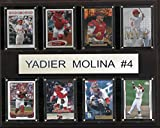 MLB St. Louis Cardinals Yadier Molina 8-Card Plaque, 12 x 15-Inch