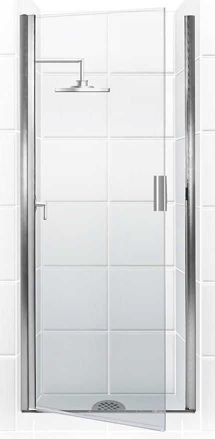 Coastal Shower Doors Paragon Series Semi-Frameless Continuous Hinge ...