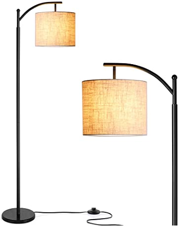 99b0bf9279 LED Floor Lamp, Zanflare Classic Arc Floor Lamp with Hanging Lamp Shade, Modern  Floor