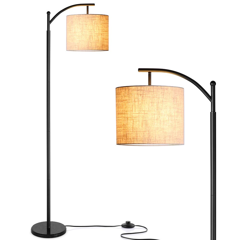 Floor Lamp, Zanflare LED Floor Lamp-Classic Arc Floor Lamp with Hanging Lamp Shade, Modern Floor Lamp for Bedroom, Office, Study Room, Energy Saving ...