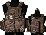Tactical Multi Attack Molle Combat Vest Magazine Pouch Airsoft Paintball Military BNE
