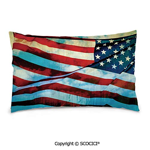 (SCOCICI Customized Printed Cotton Rectangle Pillow Case,20