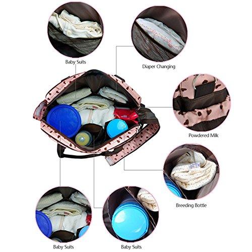 Pañales De Love Bolsa Asa Superior Multifunción Café Pañal Diseño Kangming Las Rosa Para Cambiante Mummy Bolso Corazones Bebé Mujeres 8YtAqxtCw