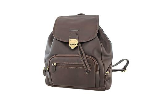 ab48777e5c4 Katana - Bolso mochila de Piel para mujer Marrón chocolate  Amazon.es   Zapatos y complementos