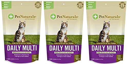 (3 Pack) Daily Multi for Cats, Multivitamin Chew