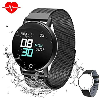 Smart Watch for Android iOS Phone, WELTEAYO Activity Fitness Tracker Watches Smartwatch with IP67Waterproof Notification SMS Heart Rate, Sleep Monitor ...
