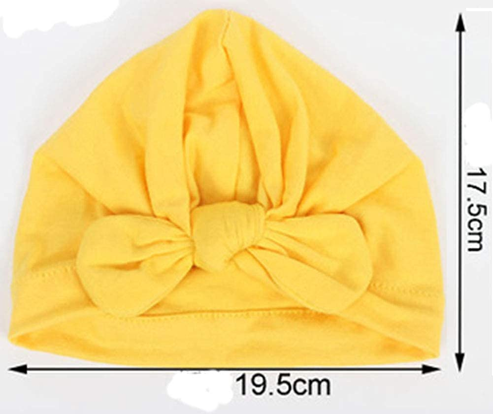 CaJaCa 7 Pack Newborn Baby Toddler Cotton Hat Baby Girl Knotted Hat Cute Donut Soft Turban Bow Cap Set