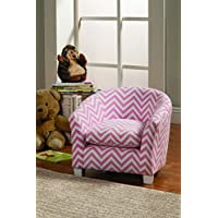 Coaster 405022 Home Furnishings Kids Wing Back Chair, Pink/White