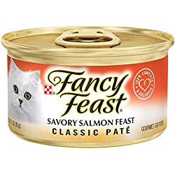 Purina Fancy Feast Classic Pate Savory Salmon Feast Wet Cat Food - 3 oz. Can (Pack of 24)