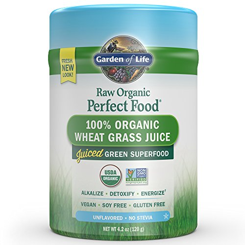 - Garden of Life Vegan Green Superfood Powder - Raw Organic Perfect Whole Food Wheat Grass Dietary Supplement, 4.2oz (120g) Powder