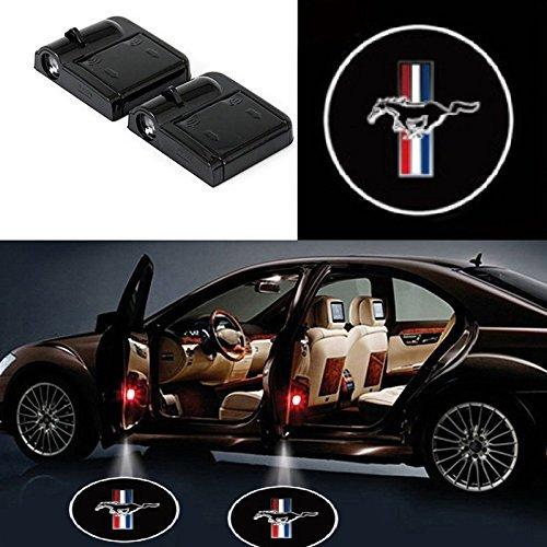 2Pcs for Mustang Car Door LED Projector Lights, Car Door Projector Welcome Lights,Wireless Car Door Led Projector Lights for Mustang All Models (Mustang Light Laser Projector)