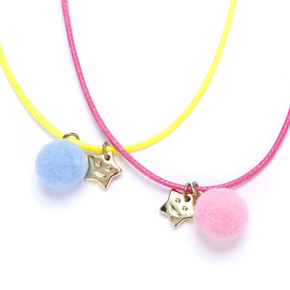Star /& Moon Rope Necklace Twin Pack