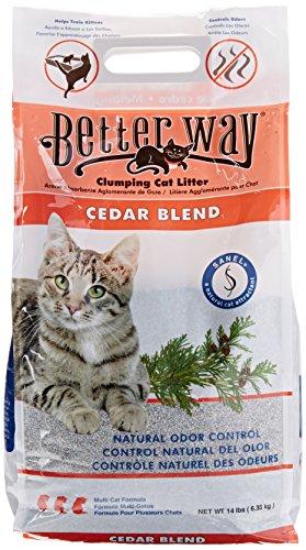 - Better Way Cedar Formula Clumping Bentonite Cat Litter with Sanel Cat Attractant 14 lbs