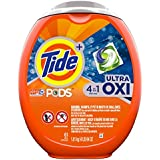 Tide PODS Ultra Oxi 4 in 1 HE Turbo Laundry Detergent Pacs, 61 Count Tub (Packaging May Vary)