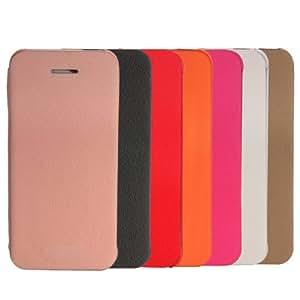 Ultra Slim Thin Folio PU cuero caso cubrir la piel para el iPhone 5: Pink