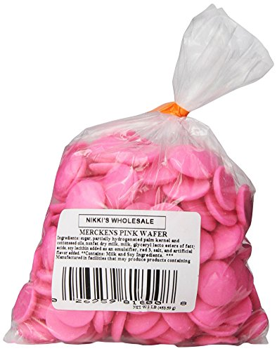 Chocolate Flavored Wafers (Merckens Coatings, Pink, 1 pound)