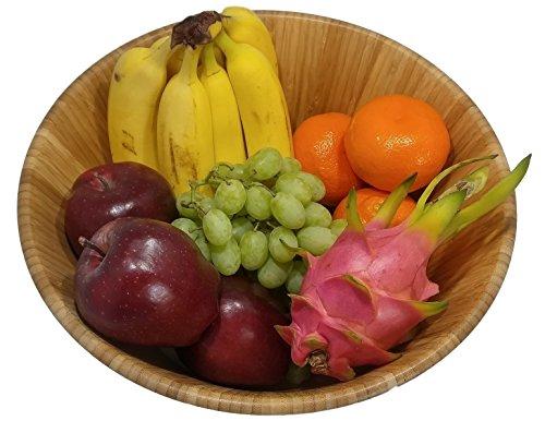Large salad bowl. Mixing bowls. Bamboo bowl with serving spoons and dressing tray. Serving bowls. Prep bowls. Fruit bowl. Mixing bowl set. Wooden basket. Salad bowl set. by PremiumPresents (Image #4)