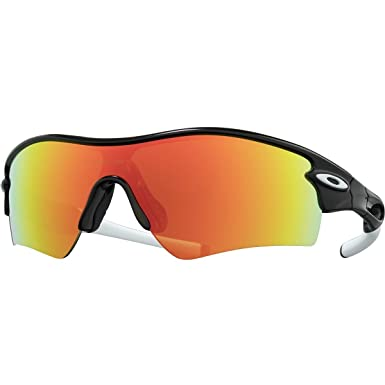 Amazon.com  Oakley Men s Radar Path Polarized Black Fire One Size  Shoes abafff654d