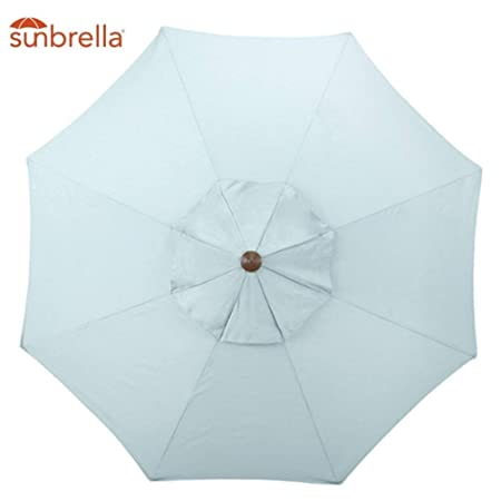 Sunbrella 8 Rib Umbrella Canopy Replacement 9 Patio Sunshade Canopy Top for 9 Ft 8-Rib Outdoor Patio Umbrella with Non Faded Sunbrella Fabric and UV Protection Sunbrella, Spa