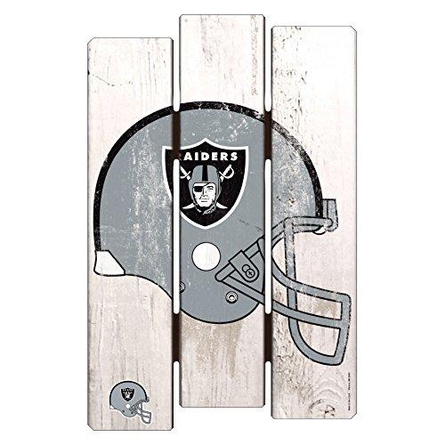 Raiders Wood Sign - NFL Oakland Raiders Wood Fence Sign, 11