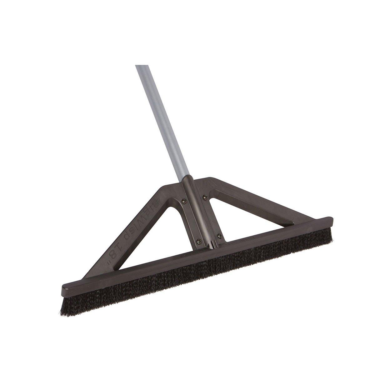 bigWISP, Lightweight Push Broom Best Outdoor Broom for Leaves, Garage and Decks with Bristle Seal Technology (18'')