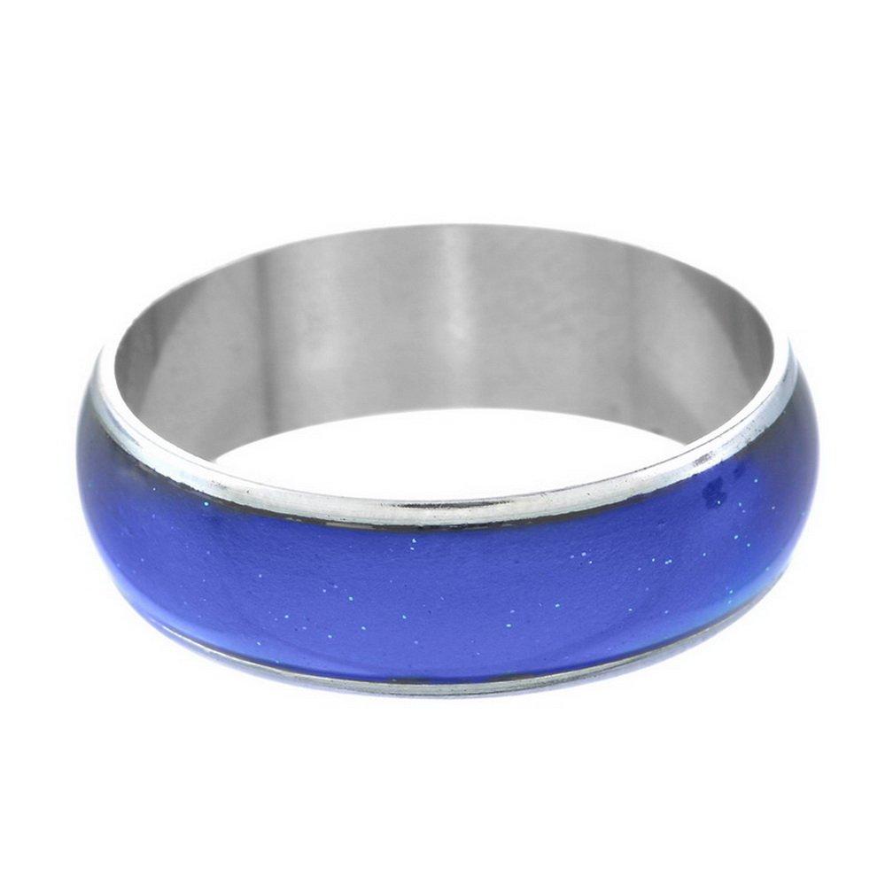 MJartoria Emotion Feeling Heat Sensitive 12 Color Changes Endless Band Mood Ring Size 7.5