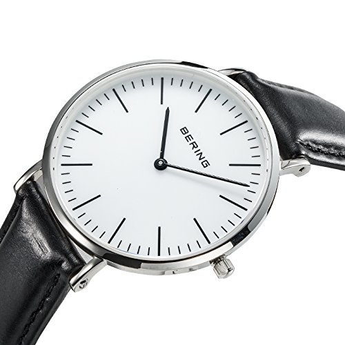BERING Time 13738-404 Men's Classic Collection Watch with Leather Band and scratch resistant sapphire crystal. Designed in Denmark.