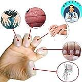 Gel Finger Protectors, Finger Cots Support (16 PCS) HIGH Material Finger Caps Fingertips Cover Protection, Finger Sleeve Finger Arthritis, Trigger Finger, Hand Eczema, Finger Cracking