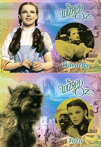 THE WIZARD OF OZ MOVIE SERIES 1 2006 BREYGENT COMPLETE BEFORE & AFTER INSERT CARD SET B&A1 & B&A2
