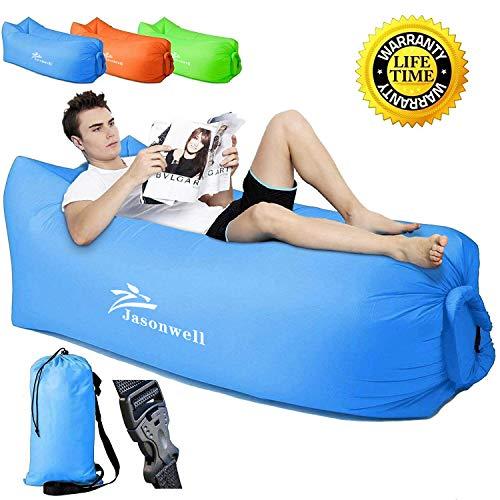 Jasonwell sofá Portable del Aire con el Bolso de Asimiento, Aire Interior al Aire Libre Que Duerme Ponen el Bolso para...