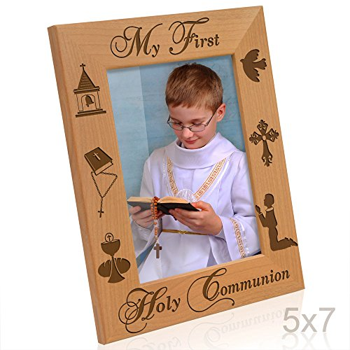 Kate Posh - My First Holy Communion - Boy Design Picture Frame (5x7-Vertical) -