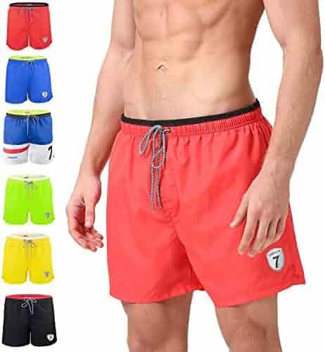 e6533b90de689 anqier Mens Swim Trunks Quick Dry Board Shorts Mesh Lining Swimwear Beach  Shorts