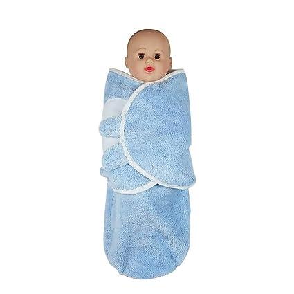AZUO Bebé Antichoque Envolver Bebé Otoño E Invierno Saco De Dormir - Azul Hombres Y Mujeres