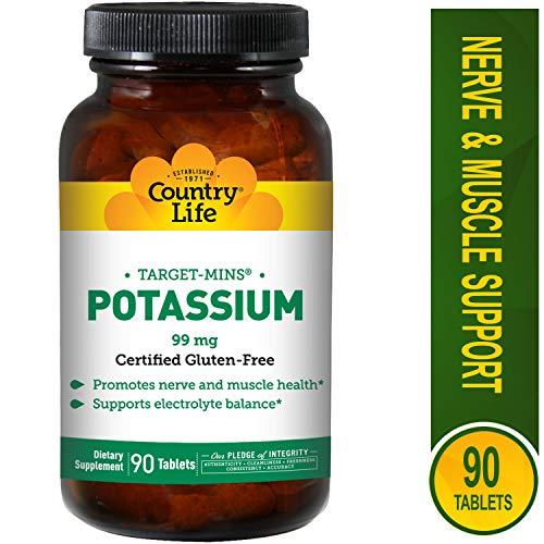 Country Life Target Mins Potassium, 99 mg - 90 Tablets