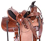 AceRugs 12″ 13″ Rough Out Youth Kids Western Children Ranch Work Roping Leather Horse Saddle TACK Set