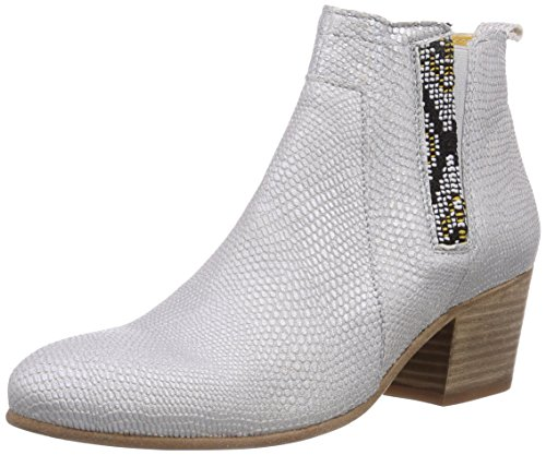 Goldmud Tabora - botines chelsea de cuero mujer blanco - Weiß (Caprinos off white/Luca olive)