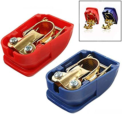 2 Paar Auto Batterie Schnellverschluss,Batterieklemmen Polklemmen Batterie