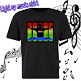 Flashingworld led music funny Light up the night in an Sound Activated Shirt! (XL, DJ BOY)
