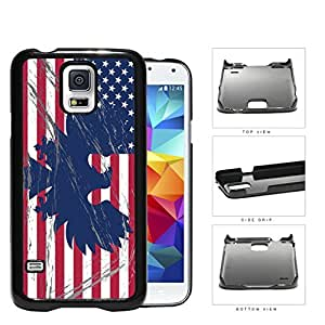 American Eagle Flag With Overspray Hard Plastic Snap On Cell Phone Case Samsung Galaxy S5 SM-G900