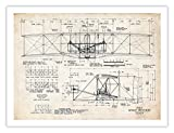 "WRIGHT FLYER PRINT 1903 First Airplane Art Print Brothers Orville Wilbur Flying Machine (5"" x 7"")"