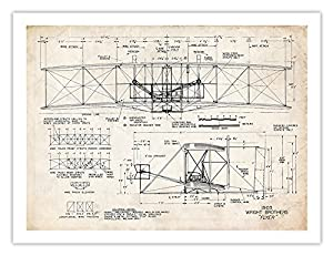 Amazon Com Wright Flyer Print 1903 First Airplane Art