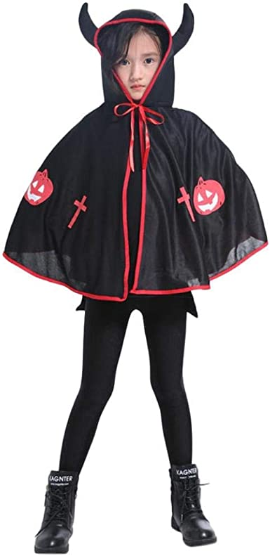 Kid//Adult Halloween Hooded Cloak Robe Party Wizard Witches Cosplay Cape Costume