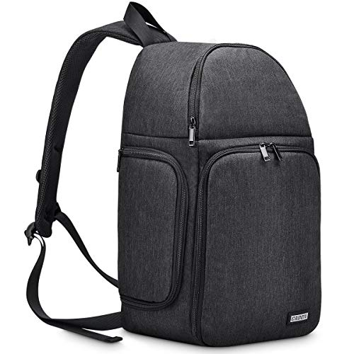 CADeN Camera Bag Sling Backpack, Camera Case Waterproof with Modular Inserts Tripod Holder for DSLR/SLR and Mirrorless Cameras (Canon Nikon Sony Pentax) (Best Quick Access Camera Bag)